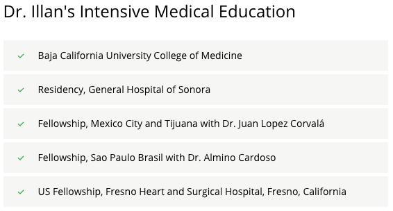 Dr. Illan Medical Training
