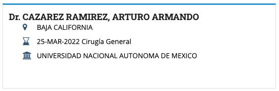 Dr. CAZAREZ RAMIREZ, ARTURO ARMANDO