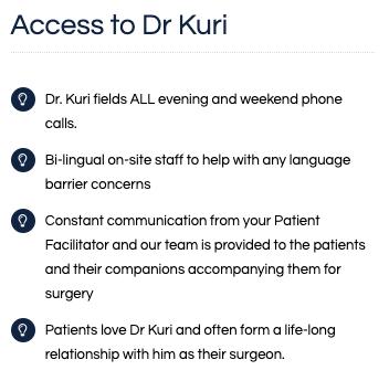 Dr. Kuri Benefits of Choosing