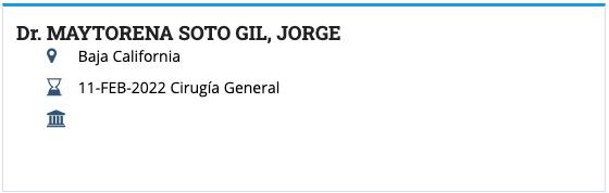 Dr. Jorge Maytorena Surgery Certification