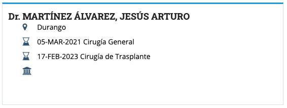 Dr. Arturo Alvarez Martinez Board Certification