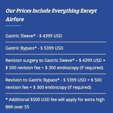 Cost of Go Light Bariatrics